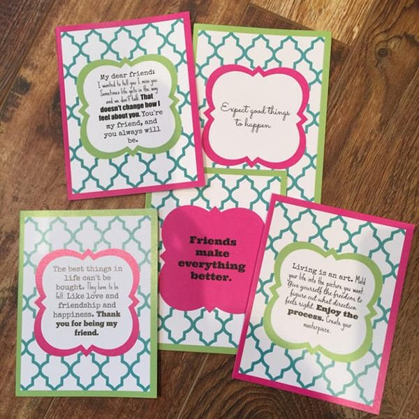 crazy perfect quote friendship card pack