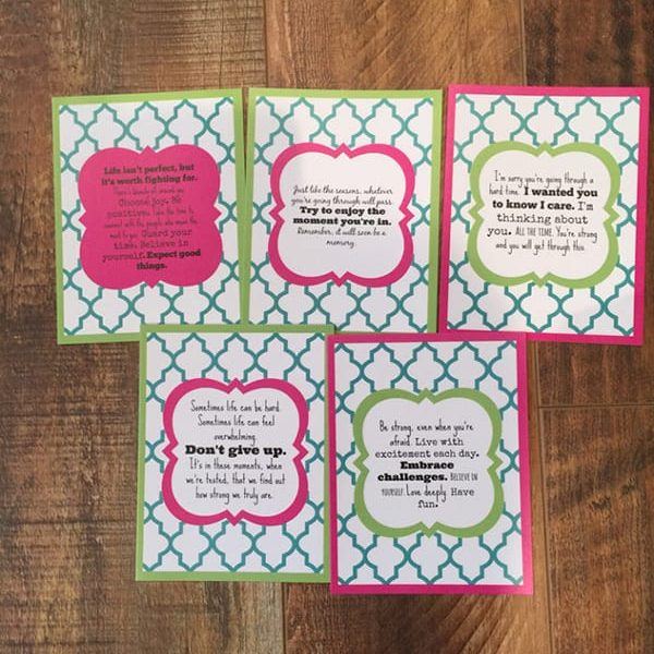 crazy perfect quote inspirational card pack